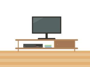 整理されたテレビボード